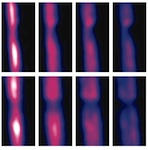 Zooming In on Microscopic Flow by Remotely Detected MRI