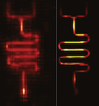 Compressive Sampling with Prior Information in Remotely Detected MRI of Microfluidic Devices