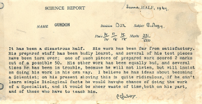 "Nobel laureate Sir John Gurdon's sixth grade report card: ""sheer waste of time"""